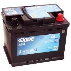 Аккумулятор Exide EK600 Start-Stop AGM 60 А*ч о.п.