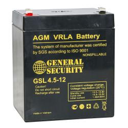 Аккумулятор General Security GSL 4,5-12