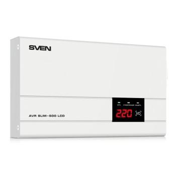 Купить Однофазный стабилизатор напряжения SVEN AVR SLIM-500 LCD