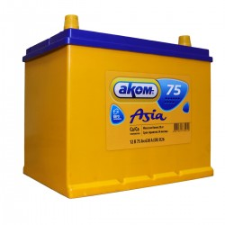 Аккумулятор АКОМ Asia 75 А*ч о.п.