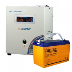 Комплект ИБП Энергия Pro 800 + Delta DTM 12100 L
